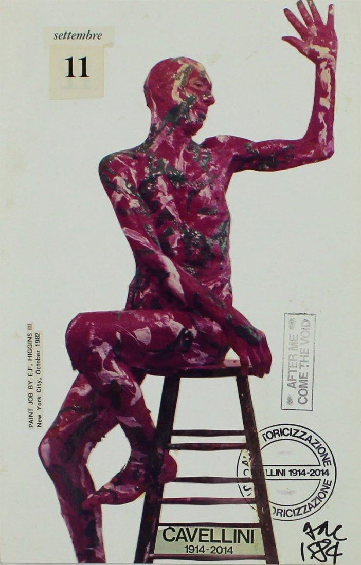 Mail Art by Achille Guglielmi Cavellini (1914-1990) - 3