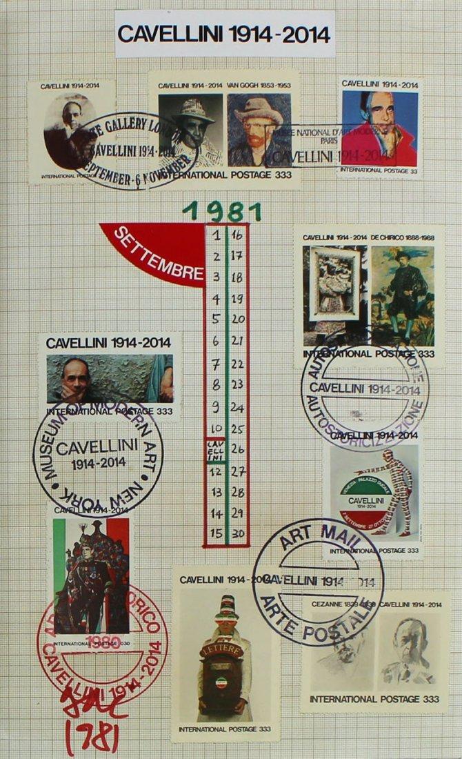 Mail Art by Achille Guglielmi Cavellini (1914-1990) - 4
