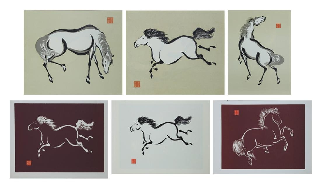 Asian Print Collection (Mid Century) (six)
