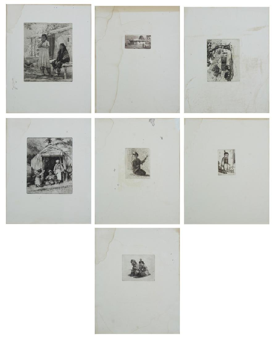 Asian Print Subjects (1950's) (seven)