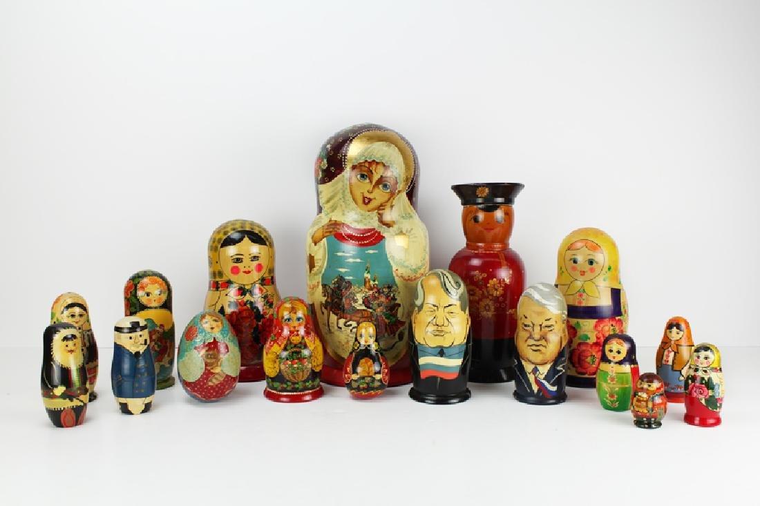 Decorative Arts: Russian Nesting Dolls & others