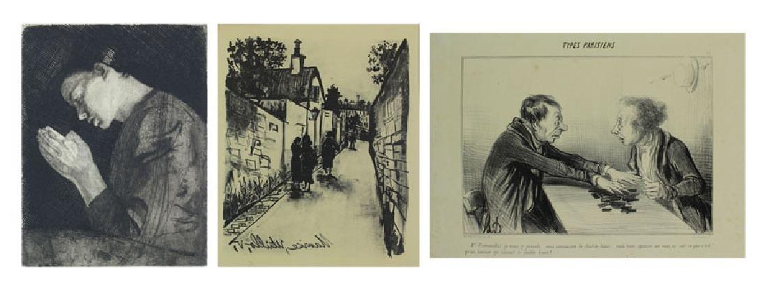 Kathe Kollwitz, Honore Daumier & Maurice Utrillo