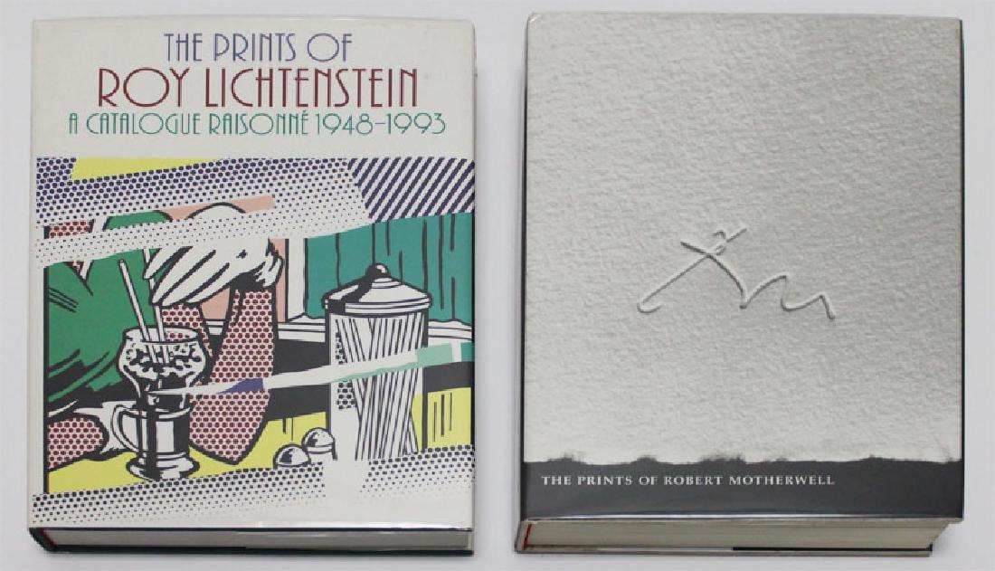 Art Books: Lichtenstein & Motherwell (four)