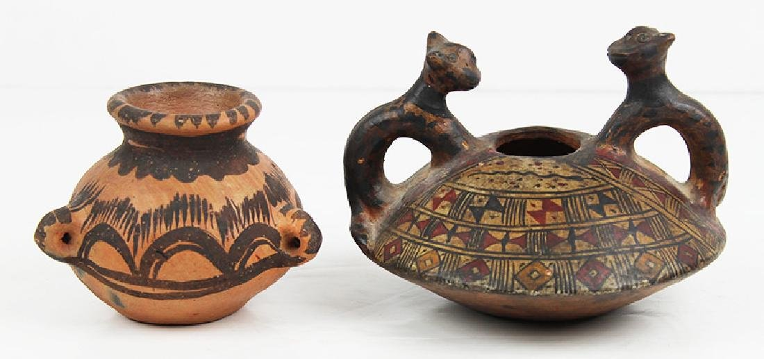 Native American Pottery & Pre-Columbian Pottery (two)