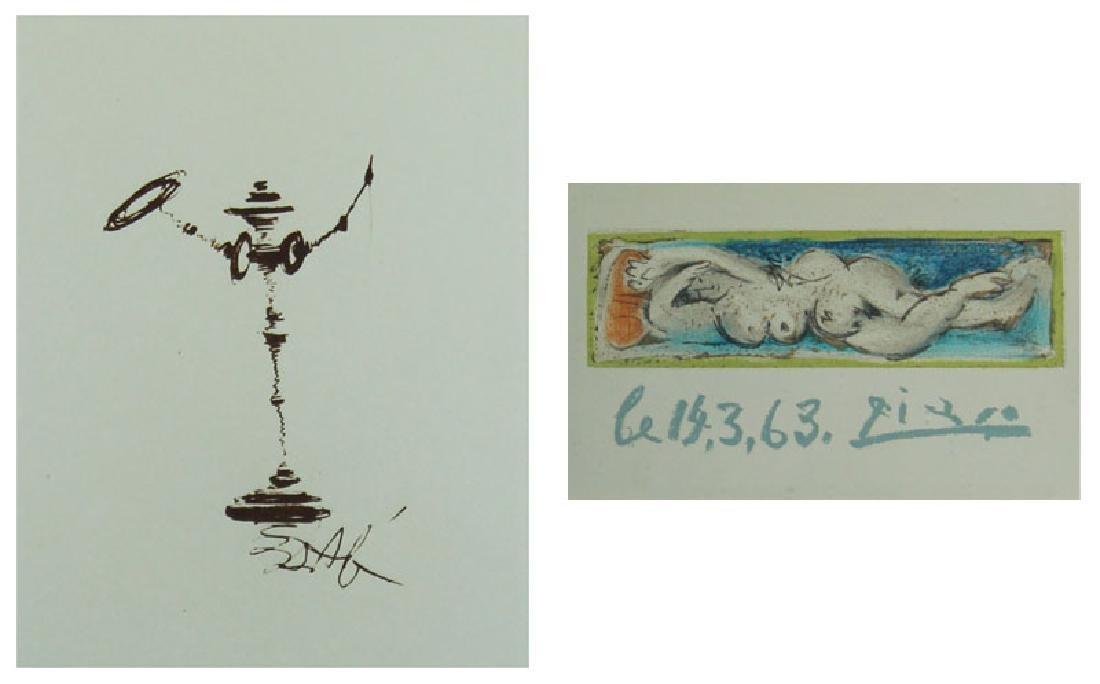 Salvador Dali & Pablo Picasso (two)