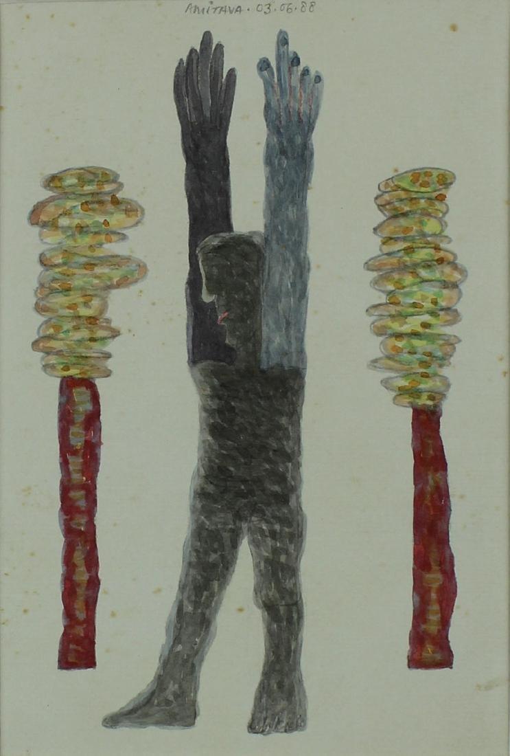 Modern Indian Art: Satish Gujral, Amitava Das, Velu - 5