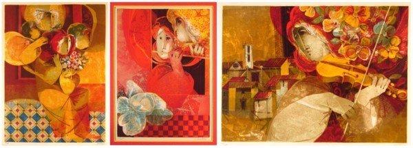4: Sunol Alvar (b. 1935) Spanish (three)