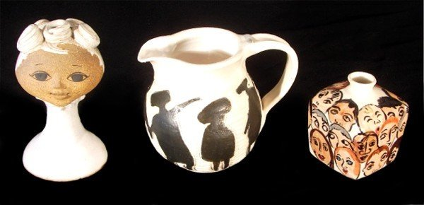 323: Joan Amparan; Shirley; & Rebecca Jones ceramics (t