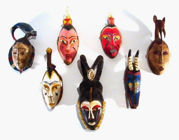 425: Ethnographical Masks (seven)
