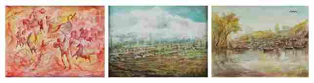 Fernando Casas (20th Century) Latin American (three)