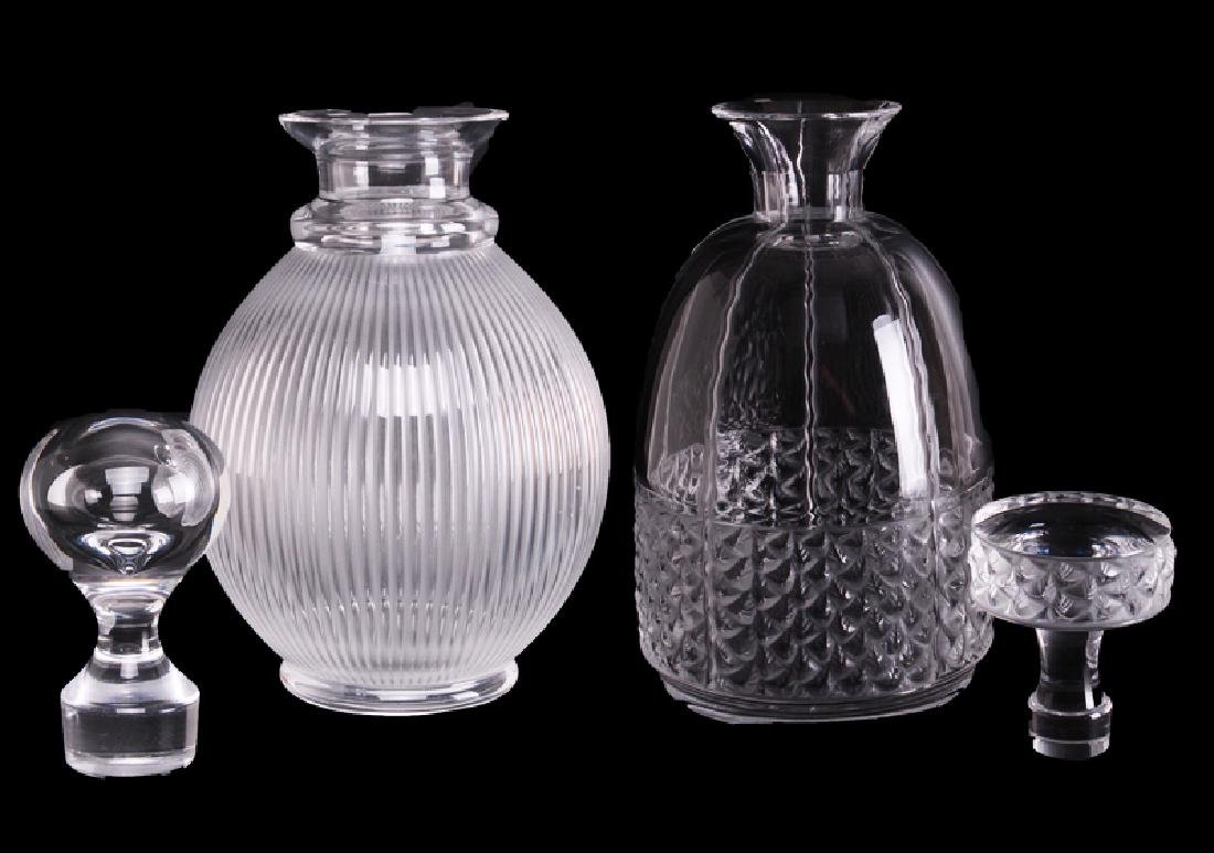 Lalique Crystal Decanters (two)