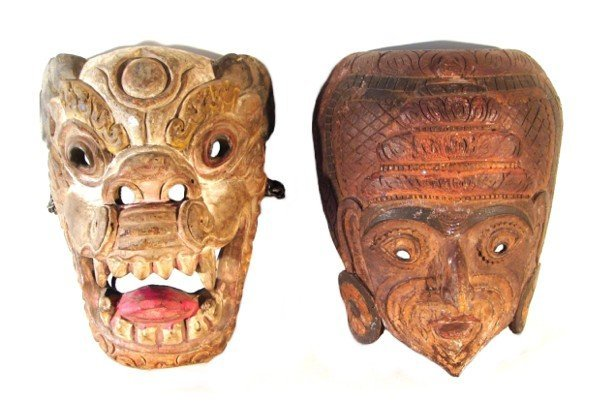2: Asian Masks (two)