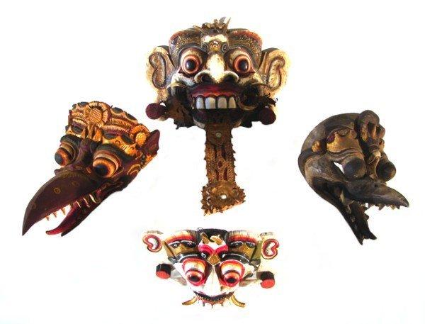 3: Asian Masks (four)