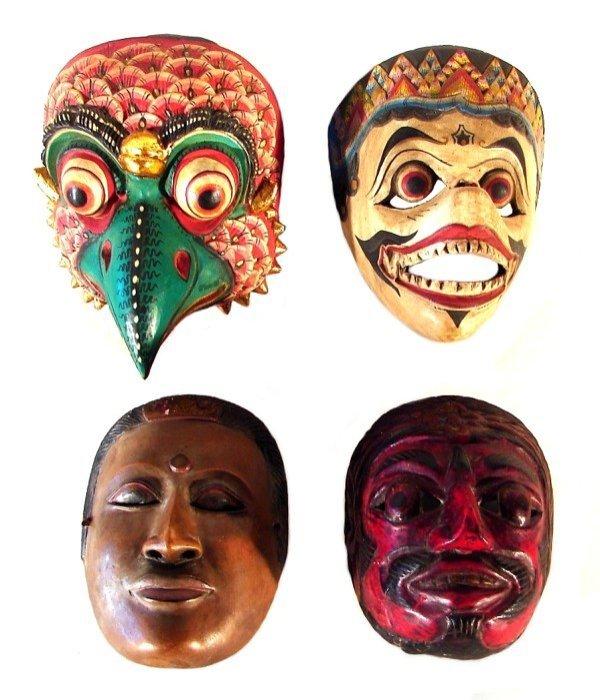 4: Asian Masks (four)