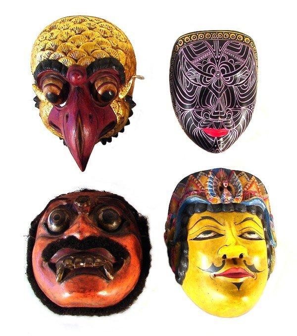 5: Asian Masks (four)