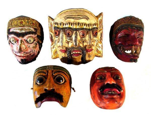6: Asian Masks (five)