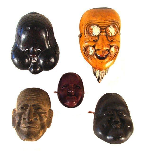 7: Asian Masks (five)