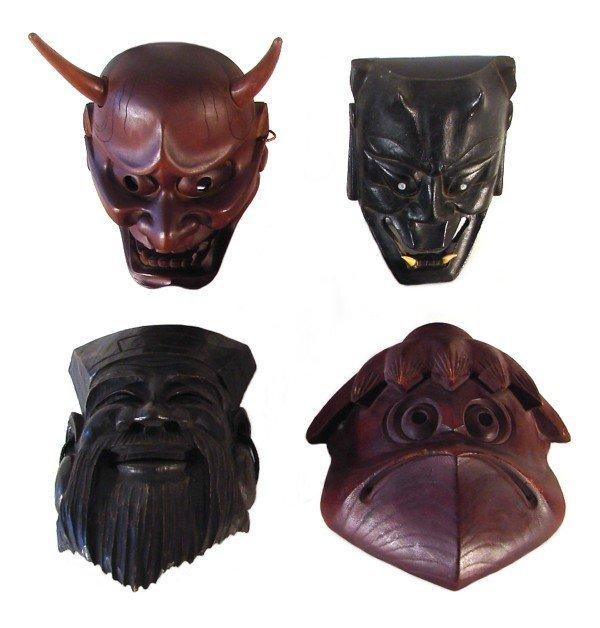 8: Asian Masks (four)