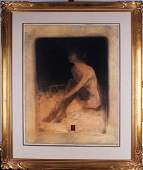 Roy FairchildWoodard b 1953 British SITTING NUDE