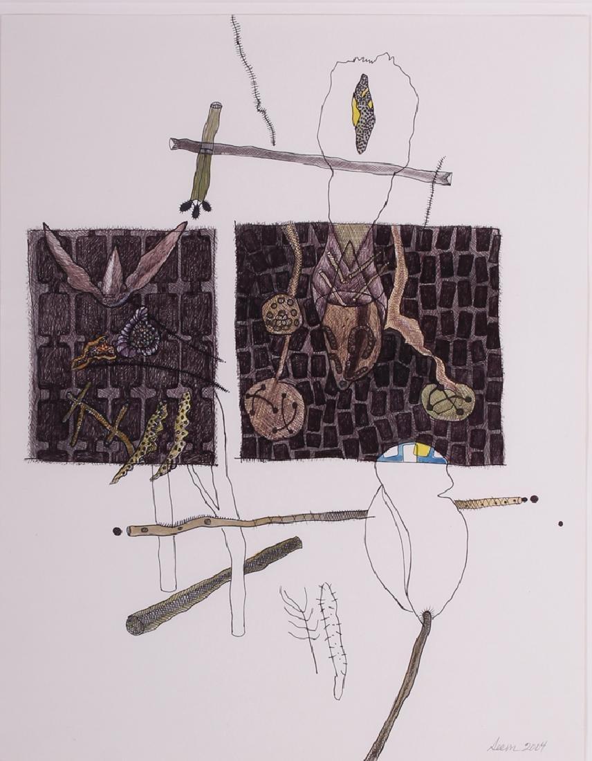 Olga Seem (b. 1927) American, EDEN, 2004, watercolor