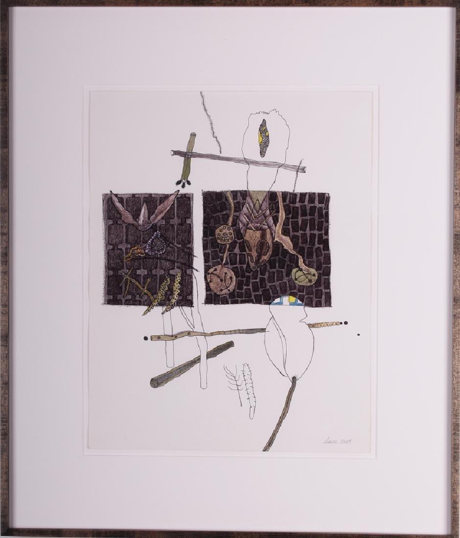 Olga Seem (b. 1927) American, EDEN, 2004, watercolor - 2