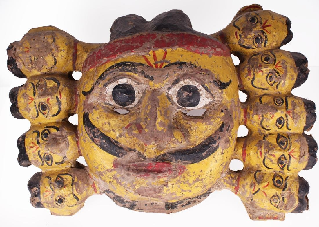 Southeast Asian Mask, MASK, carved and painted wood, 17