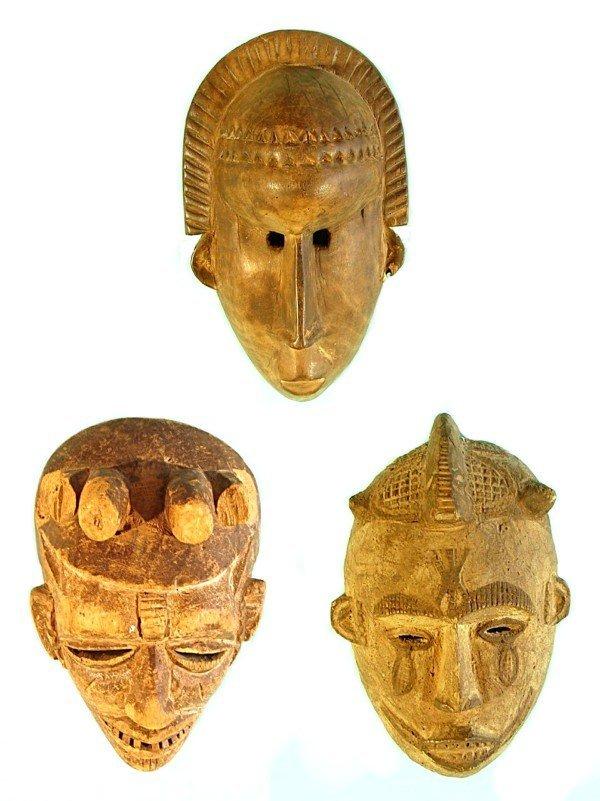 3: African Masks (three)