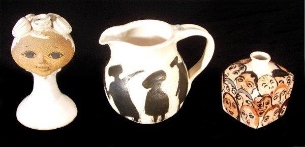 17: Joan Amparan; Shirley; & Rebecca Jones ceramics (th