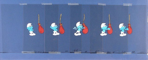 19: Animation Cel: Hanna Barbera Studio – Smurfs