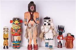 Native American Kachina Dolls (early to mid-20th