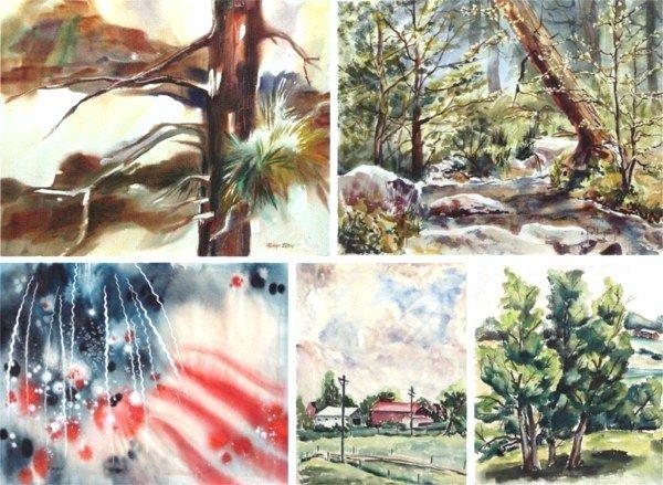 319: American Watercolors (20th Century) (five)