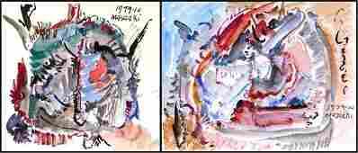 485: Masaaki Tanaka (b. 1947) Japanese (two)