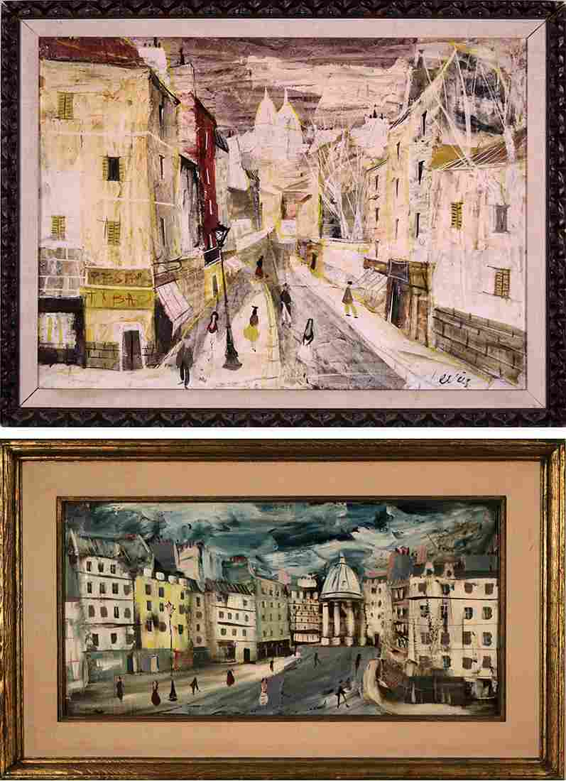 Charles Levier  (1920-2004) French  (two)