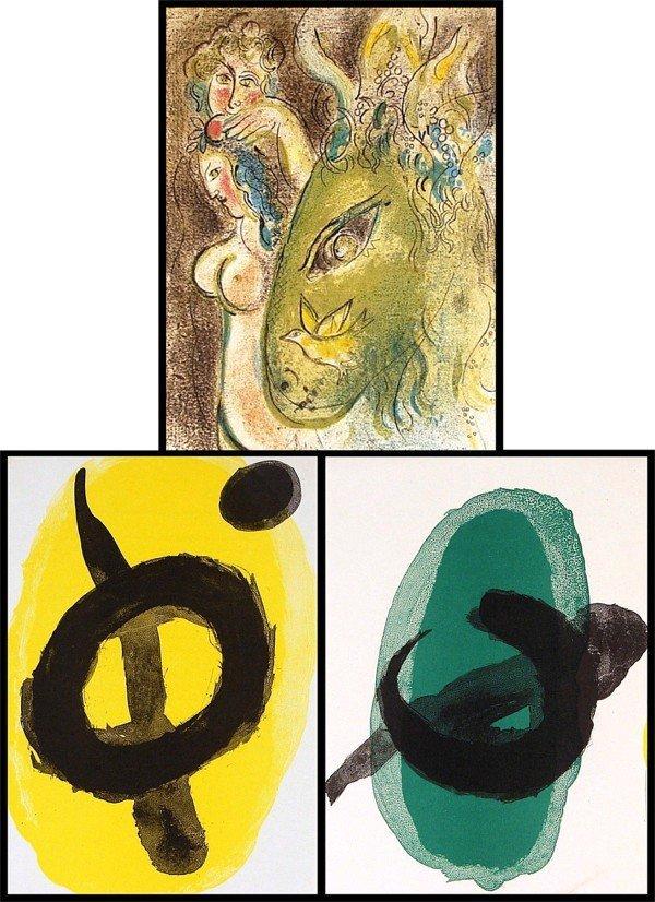 51: Marc Chagall & Joan Miro (three)