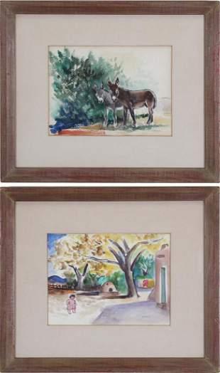 Jozef Bakos (1891-1977) New York/ Mexico (two)
