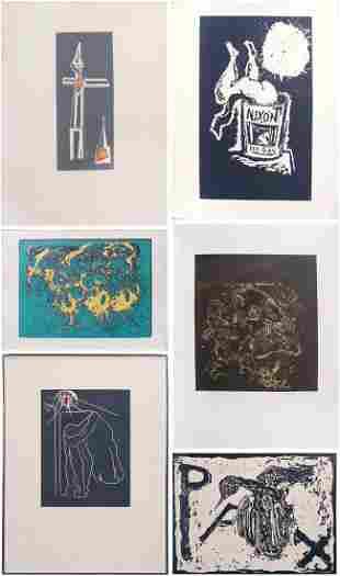 Hans Burkhardt (1904-1994) Swiss/ American (six)
