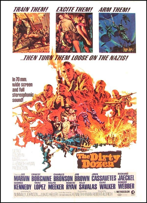 377: Original Movie Poster: The Dirty Dozen (Lee Marvin