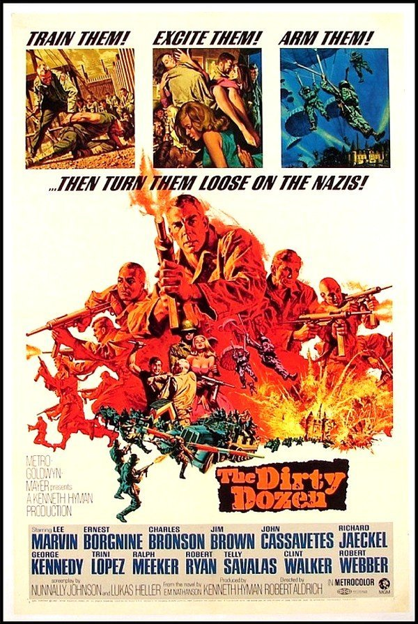 378: Original Movie Poster: The Dirty Dozen (Lee Marvin