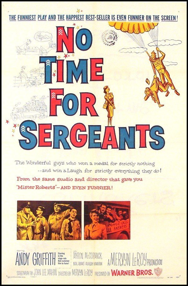 388: Original Movie Poster: No Time For Sergeants (Andy