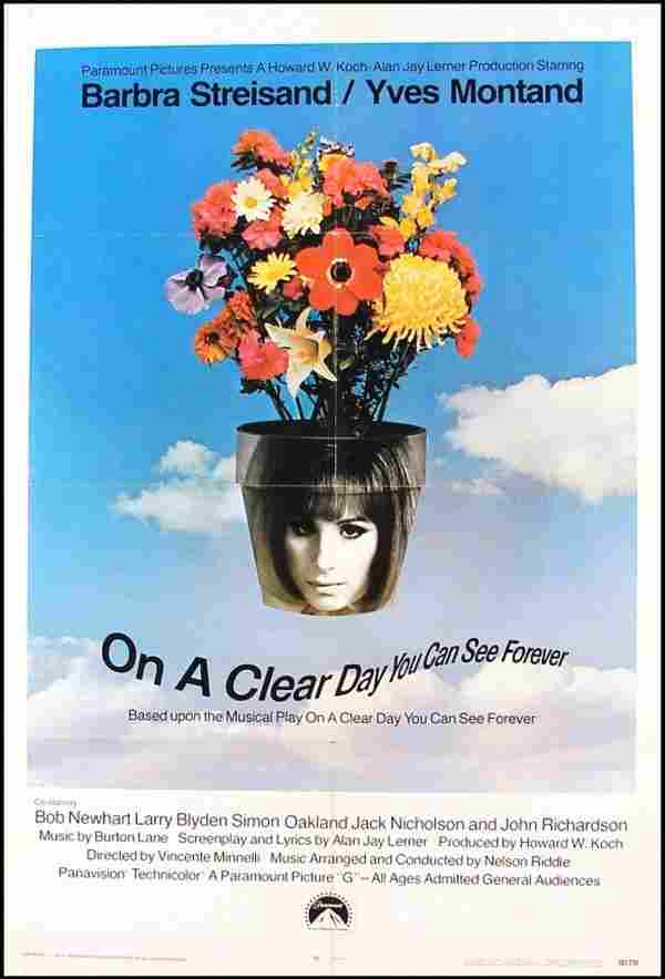 532: Original Movie Poster: On A Clear Day You Can See