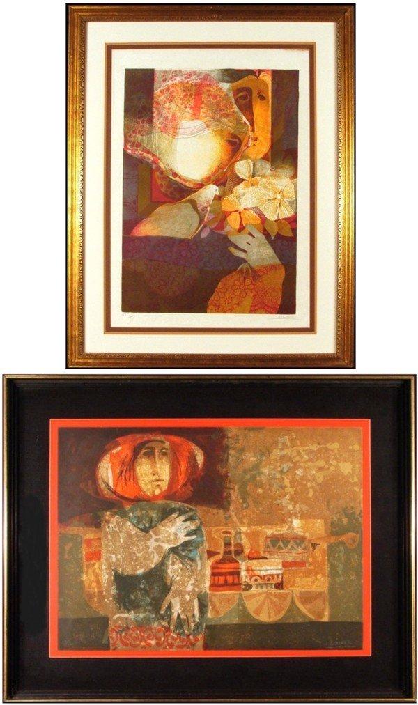 4: Sunol Alvar (b. 1935) Spanish (two)