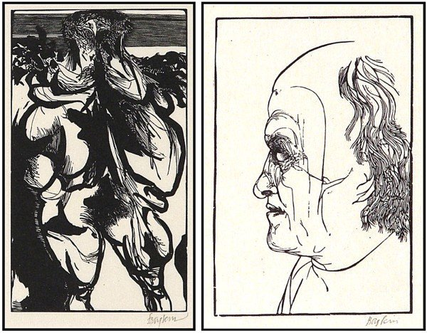 14: Leonard Baskin (1922-2000) American (two)