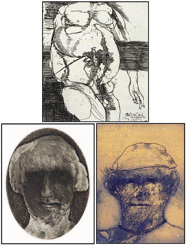 17: Leonard Baskin & Robert Marx (three)