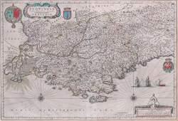 Antique Map  17 th  Century