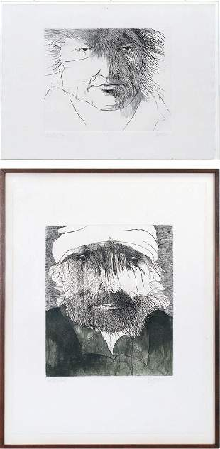 Leonard Baskin (1922-2000) American (two)