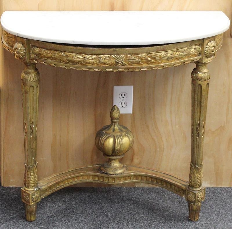 Furniture: French Demilune Console Table