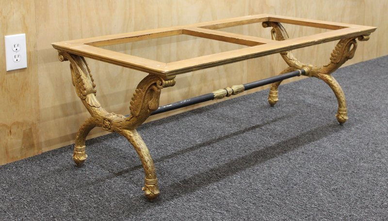 Furniture: Louis XVI-style Gilded Table Base