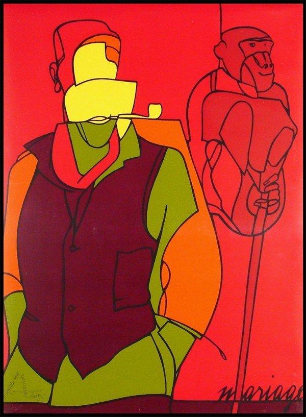 2: Valerio Adami (b. 1935) Italian