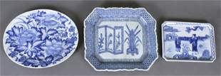 Chinese Blue White Ware Chargers 19th 20th
