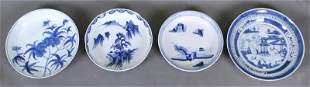 Chinese Blue White Ware Bowls 19th 20th Century